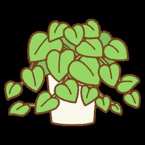 ポトスのフリーイラスト Clip art of pothos