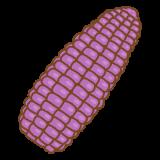 紫トウモロコシのフリーイラスト Clip art of purple corn