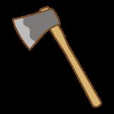 斧のフリーイラスト Clip art of ax
