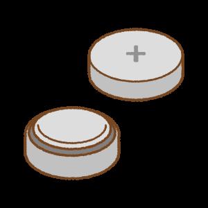 ボタン電池のフリーイラスト Clip art of coin battery
