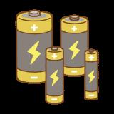 乾電池のイラスト