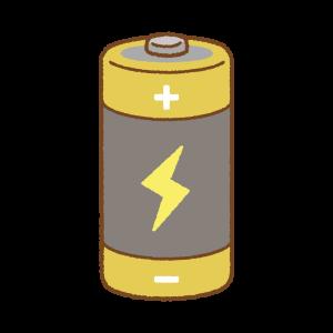 単一乾電池のフリーイラスト Clip art of dry-cell-battery