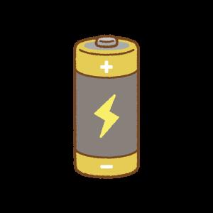 単二乾電池のフリーイラスト Clip art of dry-cell-battery
