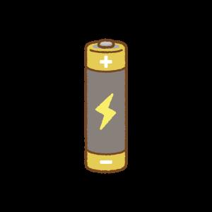 単三乾電池のフリーイラスト Clip art of dry-cell-battery