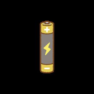 単四乾電池のフリーイラスト Clip art of dry-cell-battery