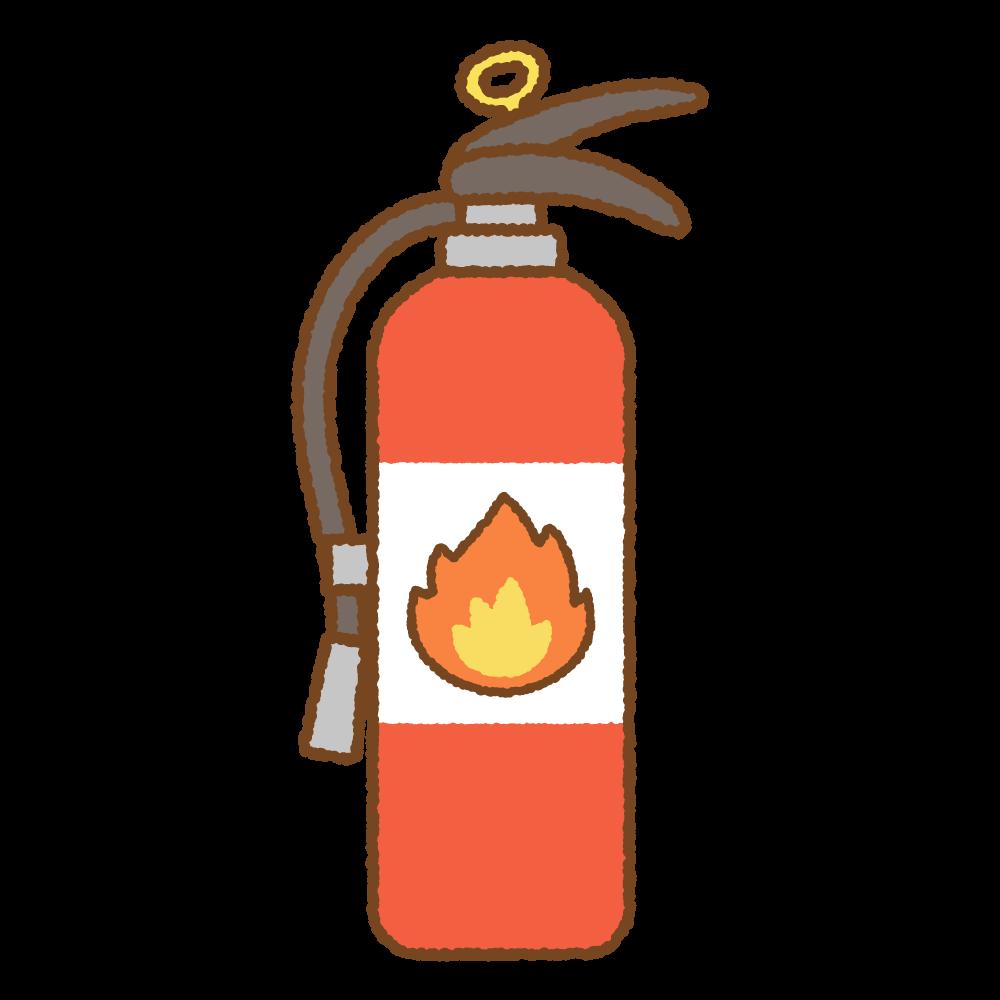 消火器のフリーイラスト Clip art of fire extinguisher