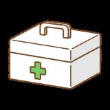 救急箱のフリーイラスト Clip art of first aid kit box