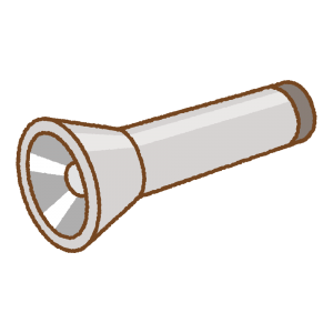 懐中電灯のフリーイラスト Clip art of flashlight