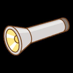 懐中電灯のフリーイラスト Clip art of flashlight-on