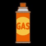 ガースカートリッジのフリーイラスト Clip art of gas cartridge