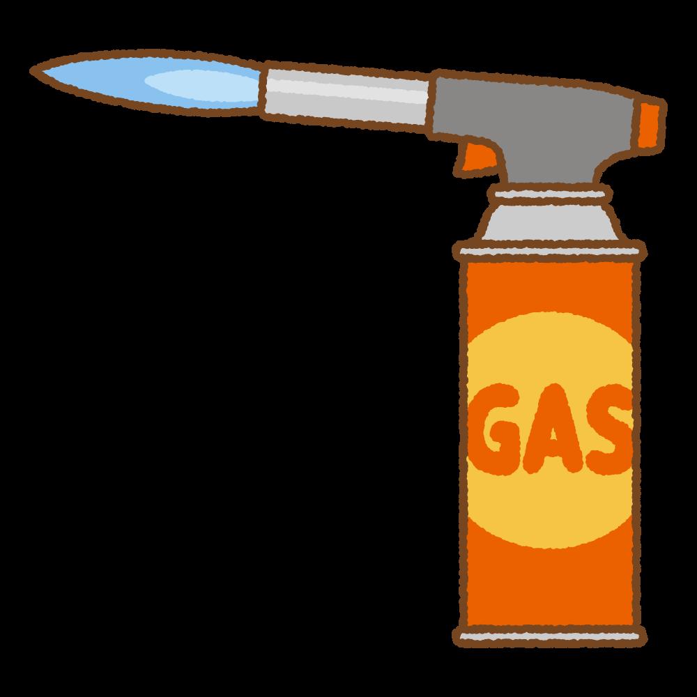 ガストーチバーナーのフリーイラスト Clip art of gas torch burner