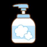ハンドソープのフリーイラスト Clip art of hand-soap