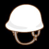 白いヘルメットのフリーイラスト Clip art of white hard-hat