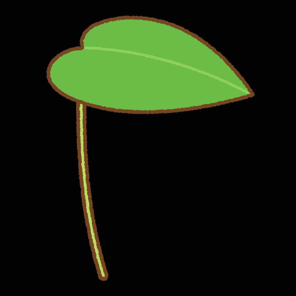 葉っぱの傘のフリーイラスト Clip art of leaf umbrella