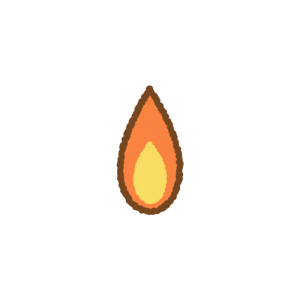 ライターの火のフリーイラスト Clip art of lighter fire