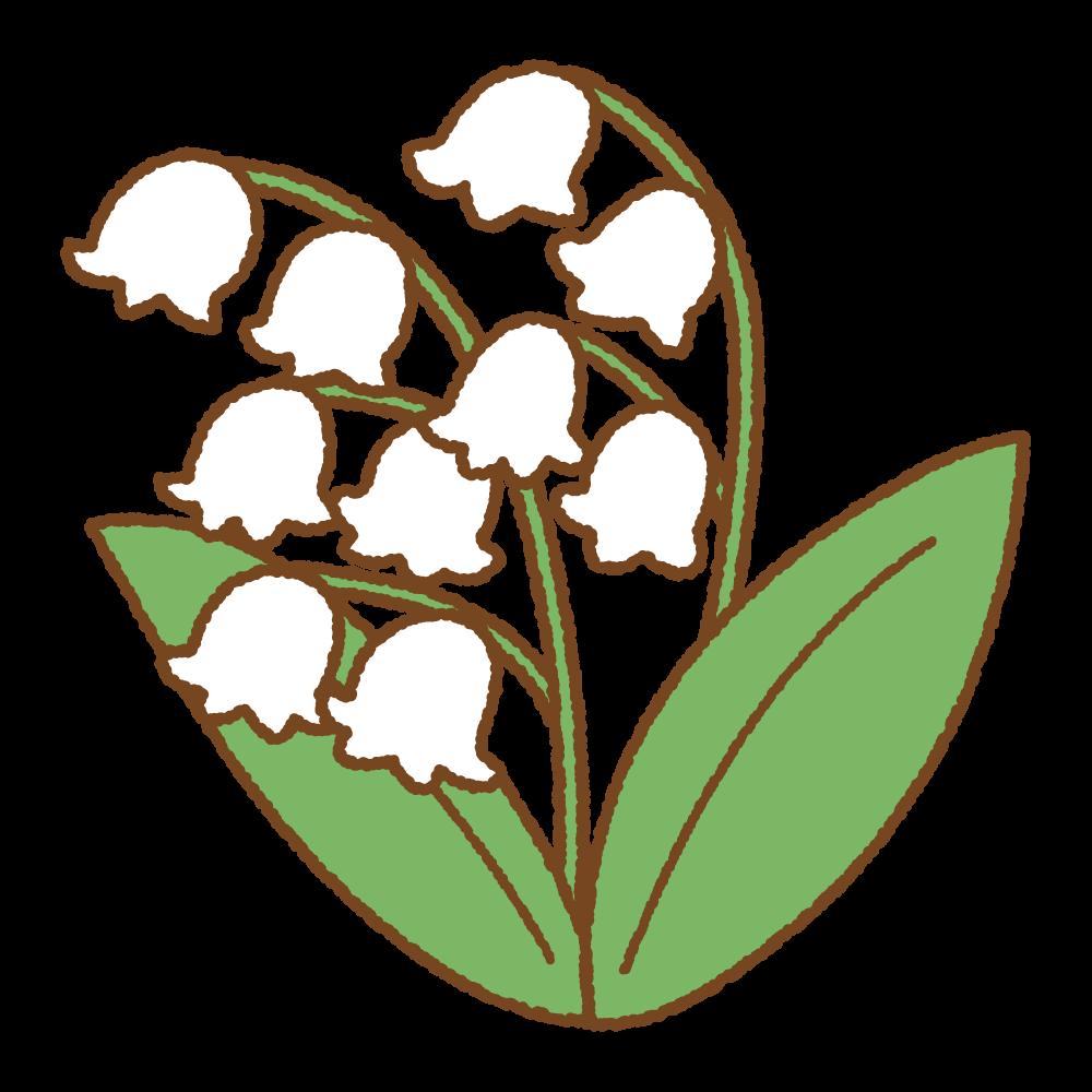 スズランのフリーイラスト Clip art of lily of the valley