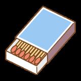マッチ箱のフリーイラスト Clip art of matchbox