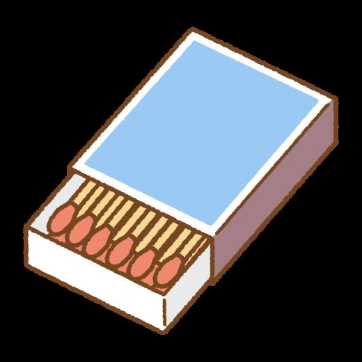 マッチ箱のイラスト