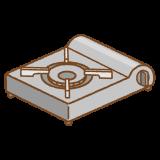 カセットコンロのフリーイラスト Clip art of portable gas stove