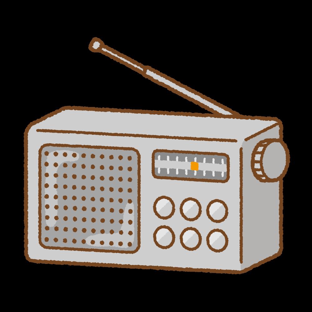 ラジオのフリーイラスト Clip art of radio