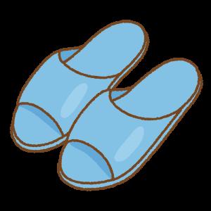 スリッパのフリーイラスト Clip art of slipper