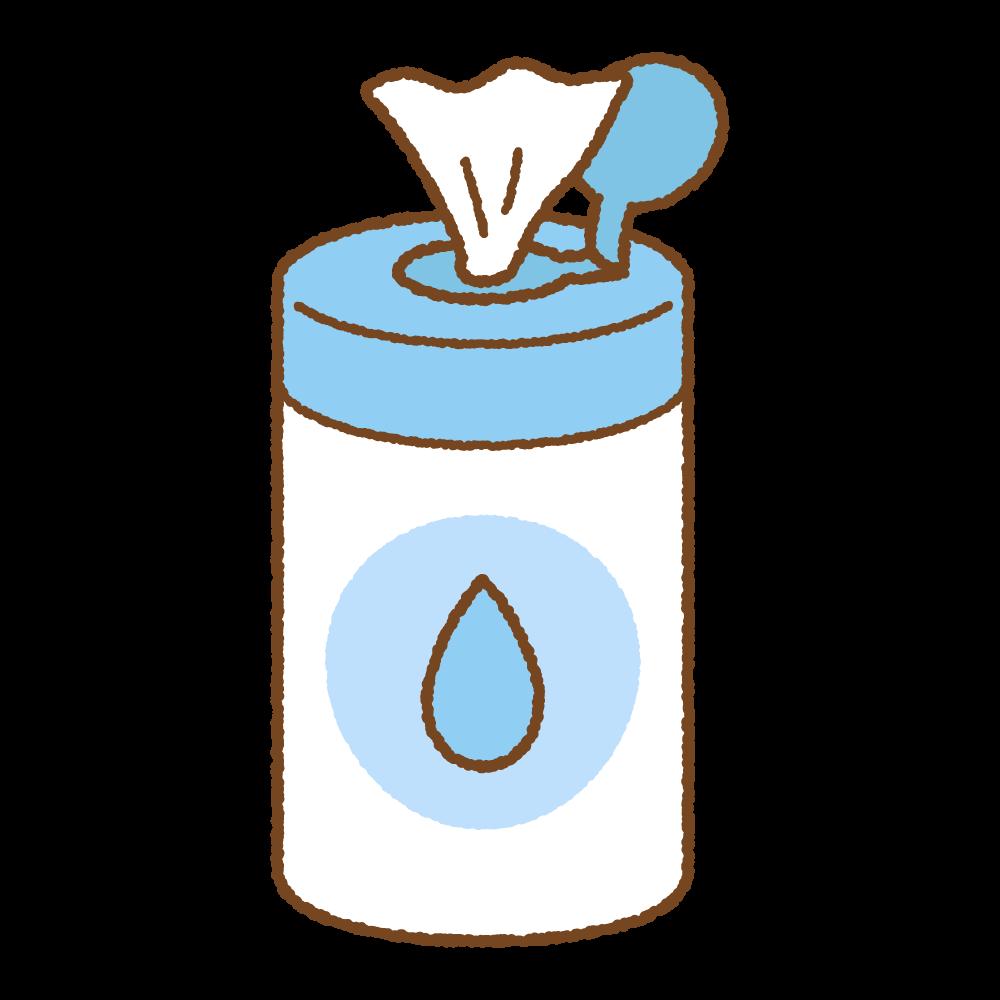 ウェットティッシュのフリーイラスト Clip art of wet tissue bottle