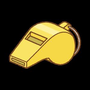 ホイッスルのフリーイラスト Clip art of whistle