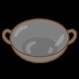 中華鍋のフリーイラスト Clip art of wok