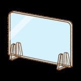 アクリル板パーテーションのイラスト