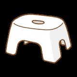 バスチェアのフリーイラスト Clip art of bath chair