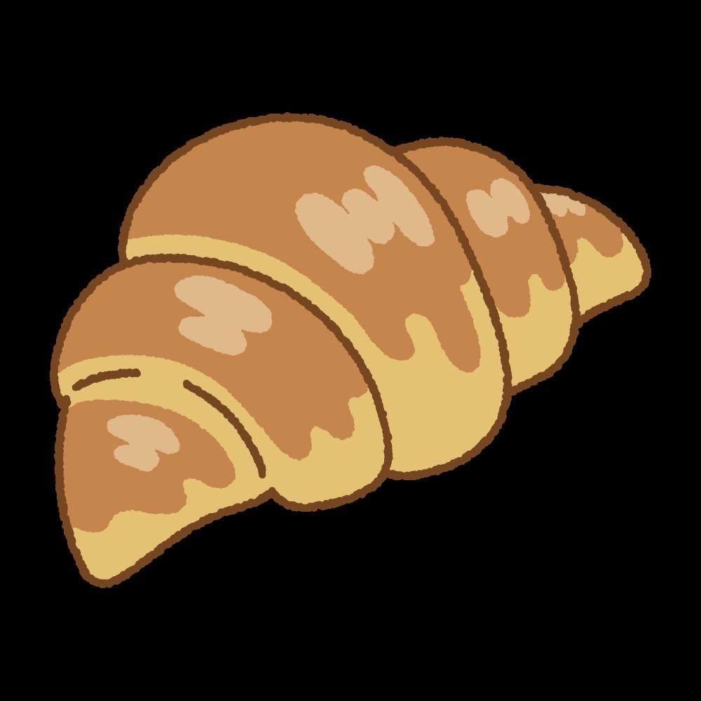 クロワッサンのフリーイラスト Clip art of croissant