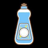 食器用洗剤のフリーイラスト Clip art of dishwashing-liquid
