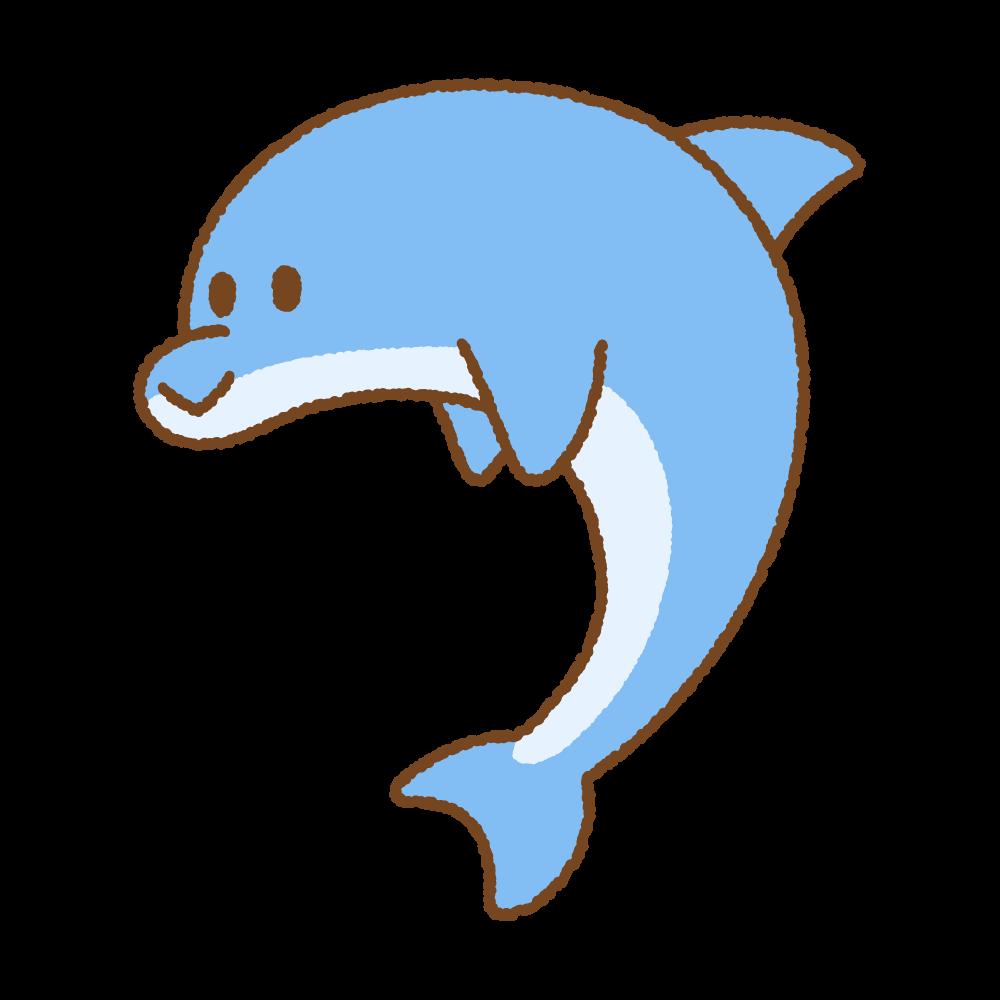 イルカのフリーイラスト Clip art of dolphin