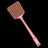 ハエ叩きのフリーイラスト Clip art of fly-swatter