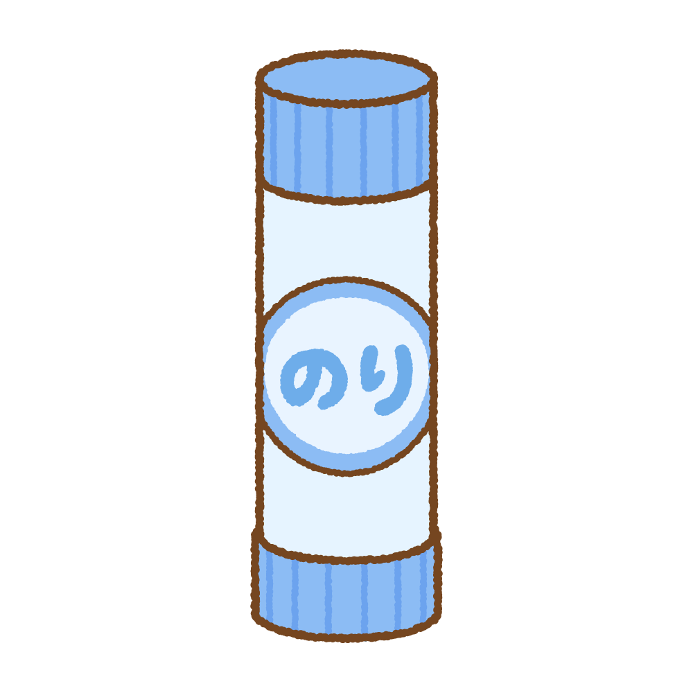 スティック糊のフリーイラスト Clip art of glue stick