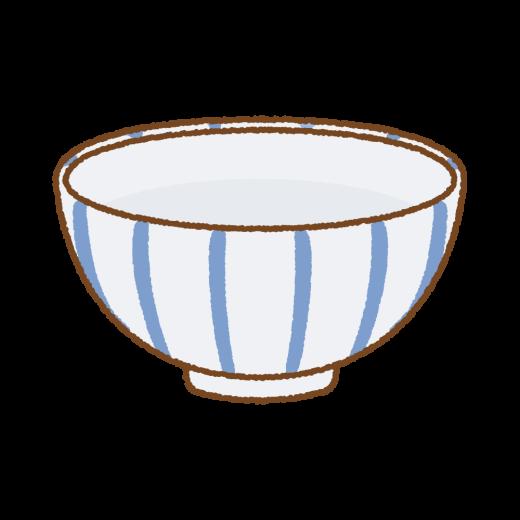 ごはん茶碗のイラスト