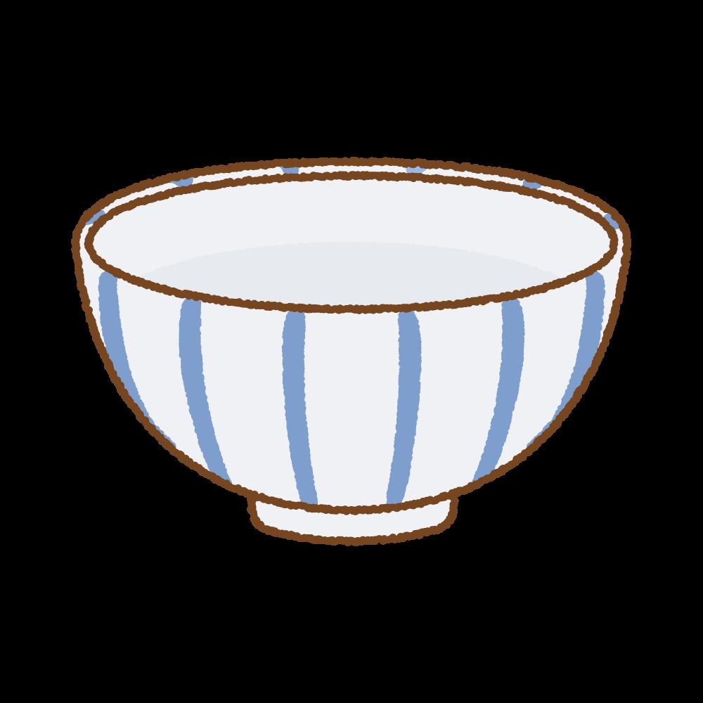 ごはん茶碗のフリーイラスト Clip art of gohan-chawan