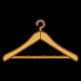 ハンガーのフリーイラスト Clip art of hanger