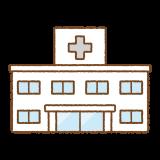 病院のフリーイラスト Clip art of hospital