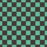 黒と緑の市松模様のパターンのイラスト