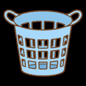 洗濯カゴのフリーイラスト Clip art of laundry basket