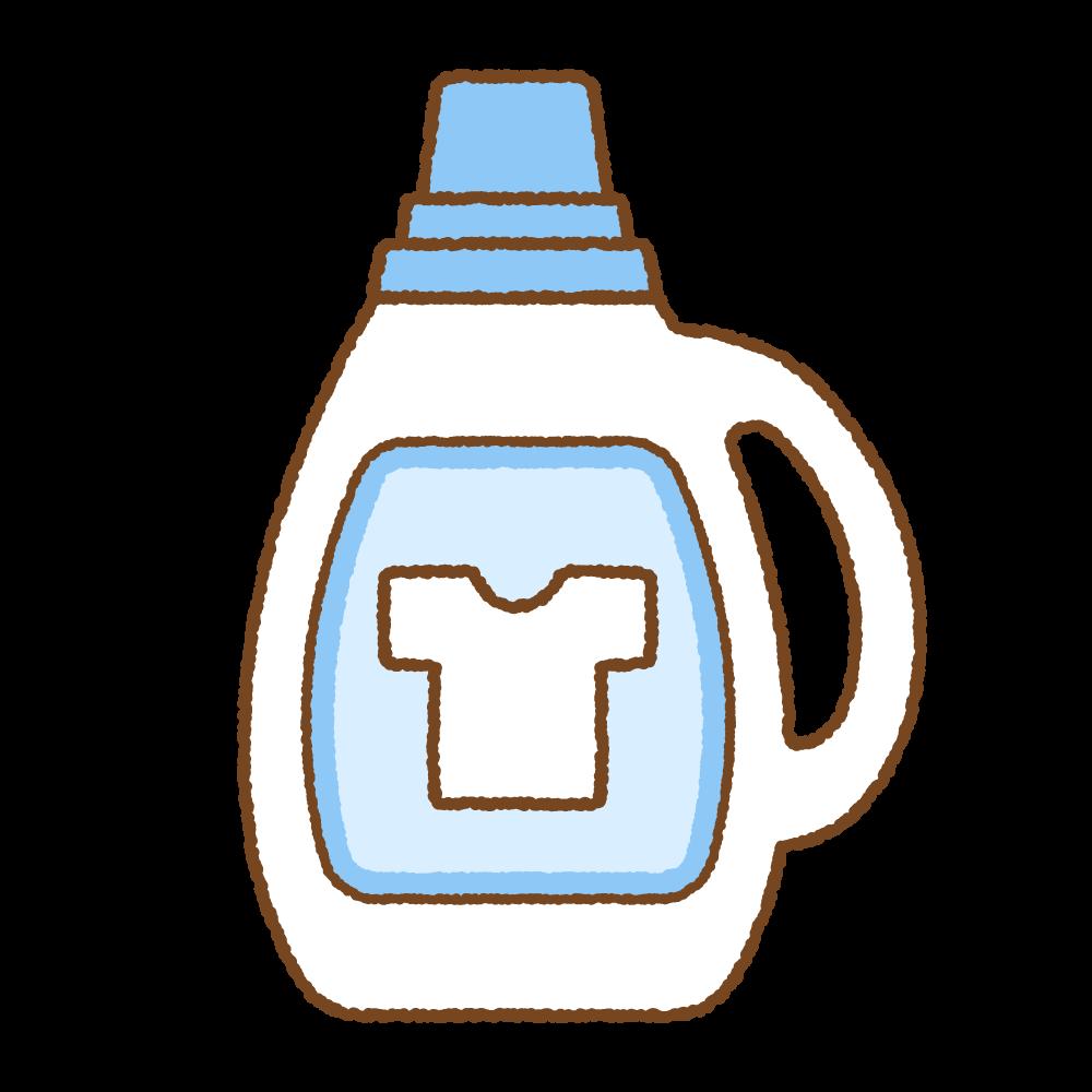 液体洗濯洗剤のフリーイラスト Clip art of laundry detergent