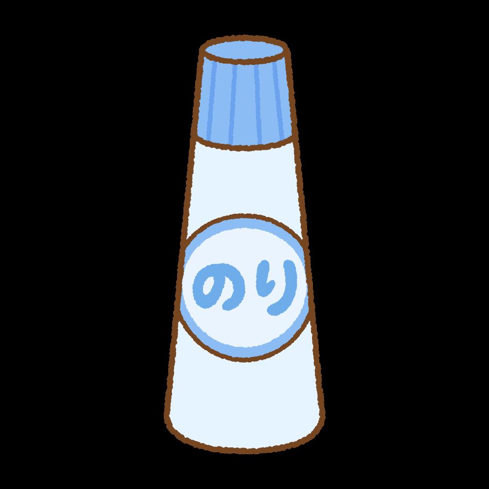 液体のりのフリーイラスト Clip art of liquid glue