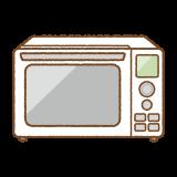 電子レンジのフリーイラスト Clip art of microwave oven