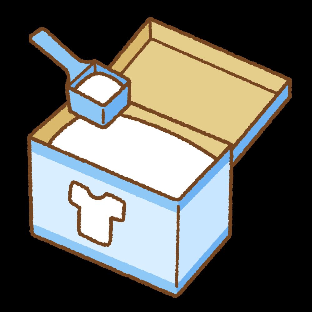 洗濯用粉洗剤のフリーイラスト Clip art of powder laundry detergent