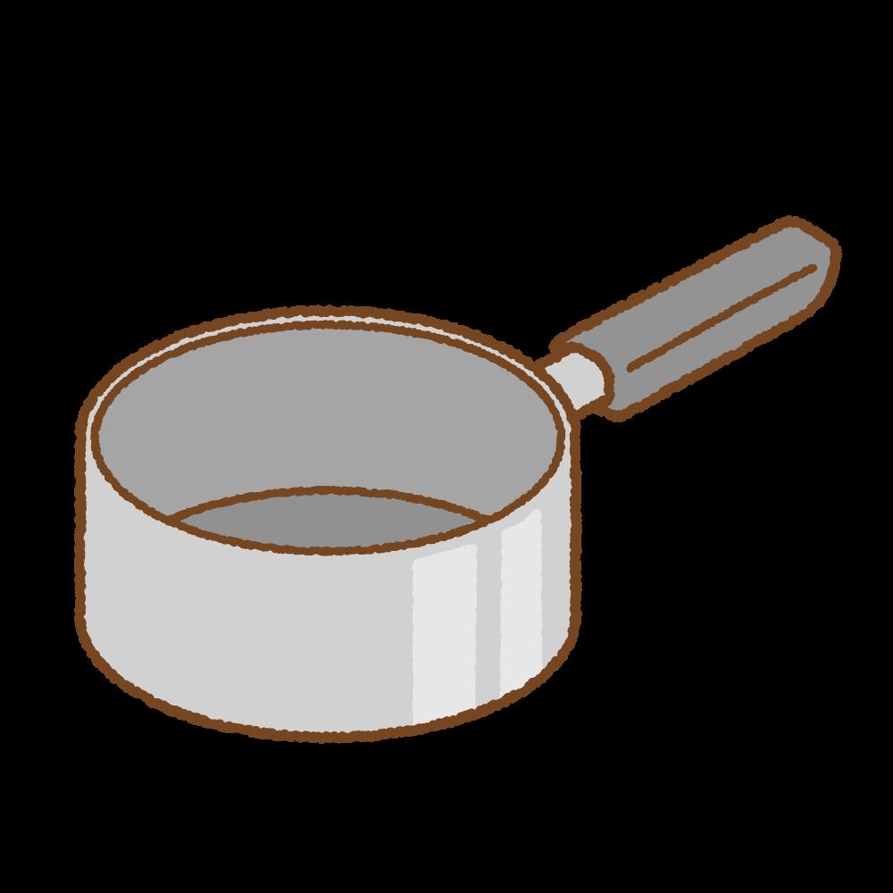 片手鍋のフリーイラスト Clip art of saucepan