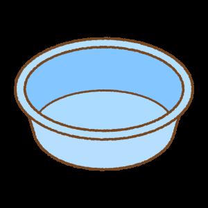 洗面ボウルのフリーイラスト Clip art of senmen-bowl