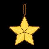 星の飾りのイラスト