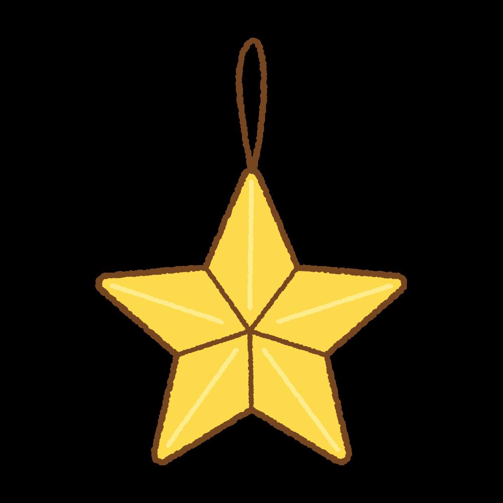 星の飾りのフリーイラスト Clip art of star ornament