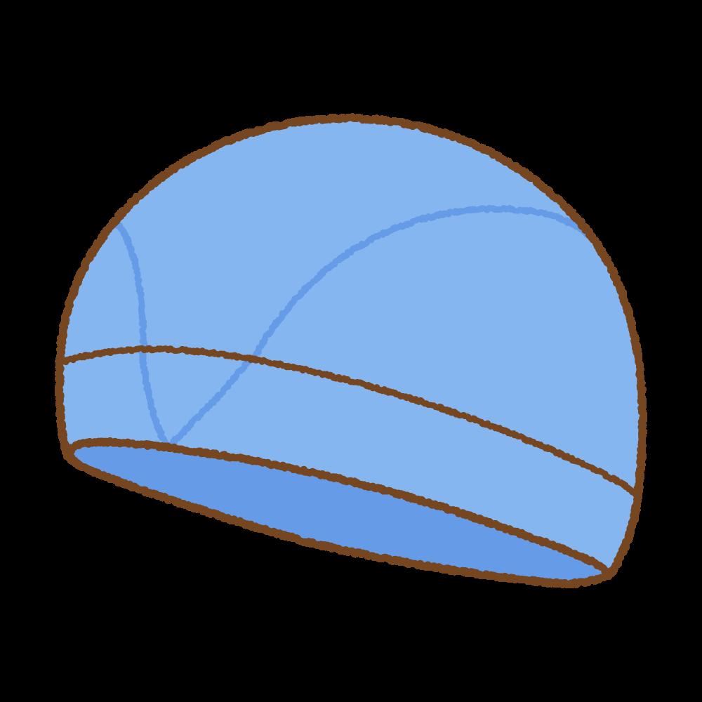 水泳帽のフリーイラスト Clip art of swimming cap
